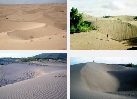 Gambar 1 Gumuk pasir yang terjadi akibat akumulasi material vulkan yang Terdeflasi