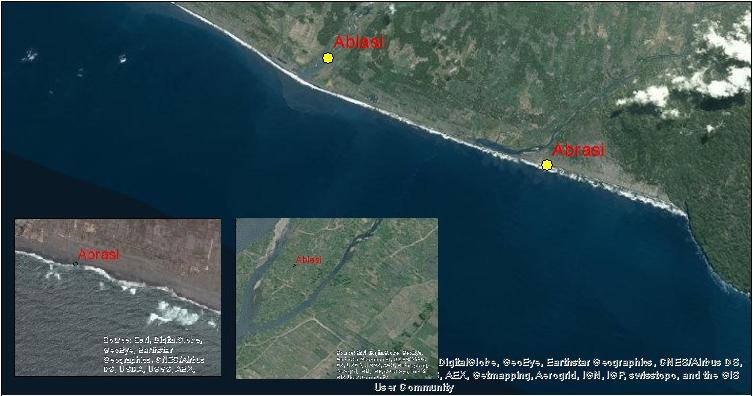 peta lokasi ablasi dan abrasi