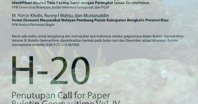 Masih Ada Kesempatan Call For Paper Buletin Geomaritime Vol. IV