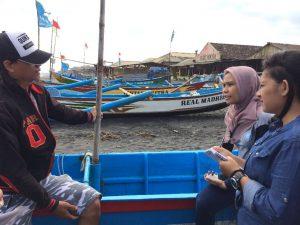 Gambar 2. Penggalian info masalah yang ada pada nelayan Pantai Depok