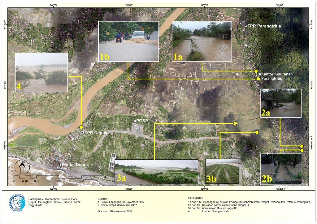 Gambar 1. Banjir Parangtritis