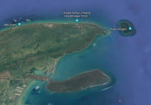 Gambar 2. Peta Lokasi Pulau Gili Iyang Sumber: Google Earth (2018)