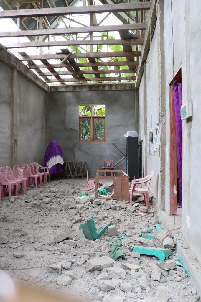 Banyak hunian rumah yang mengalami kerusakan yang termasuk berat