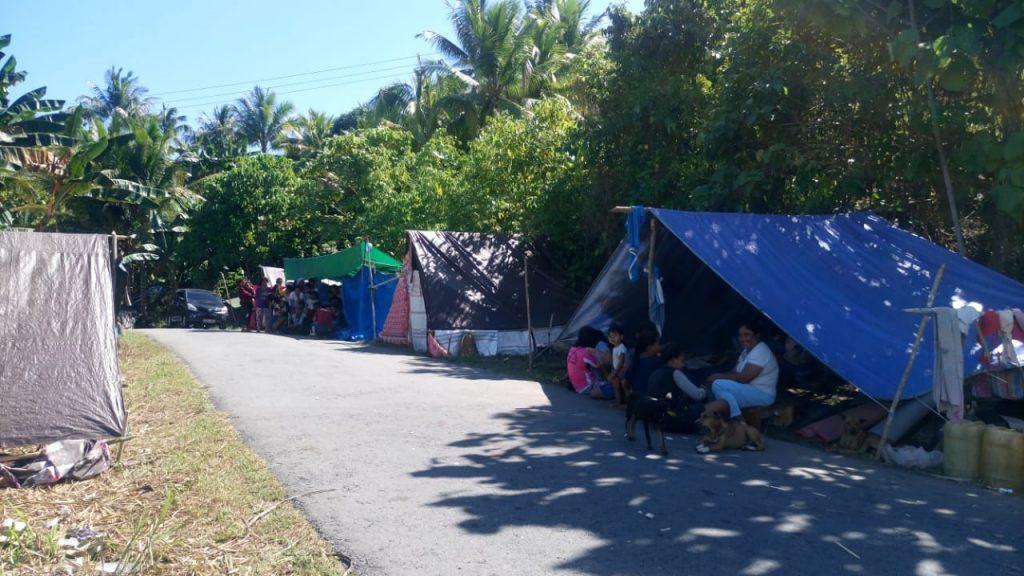 Wilayah terdampak di pulau bacan