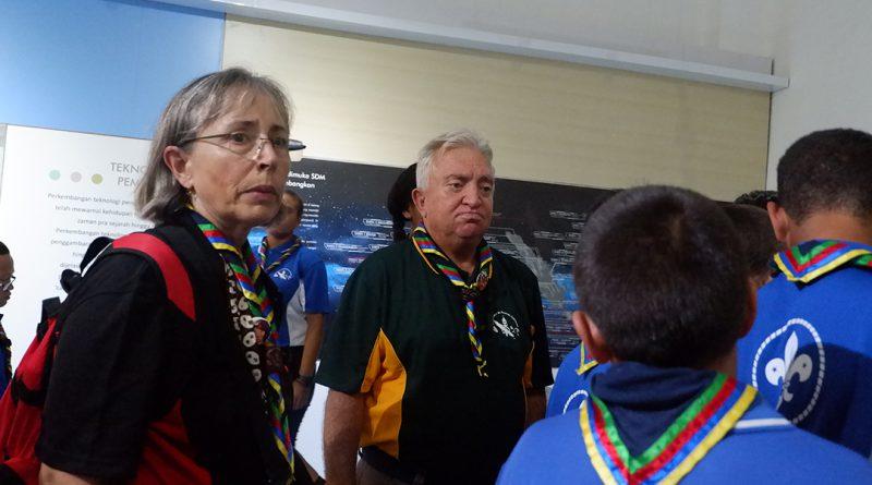 Kunjungan Scouts of New Caledonia ke Museum Gumuk Pasir