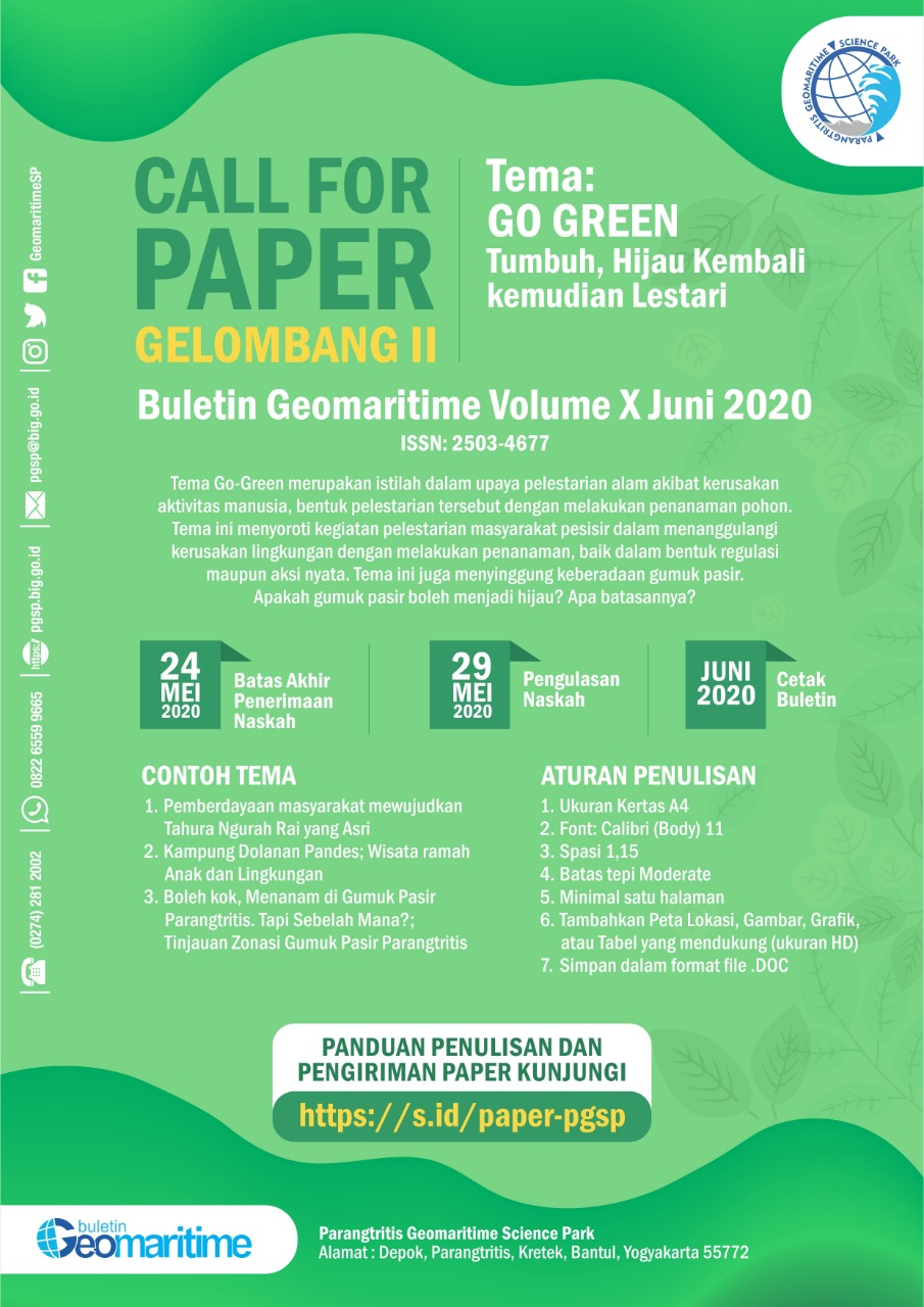Call for Paper Buletin Geomaritime Vol. X Juni 2020 Gelombang II