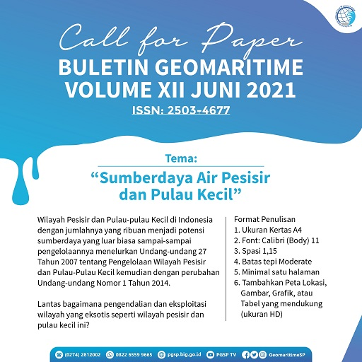Call for Paper Buletin Geomaritime Volume XII ae